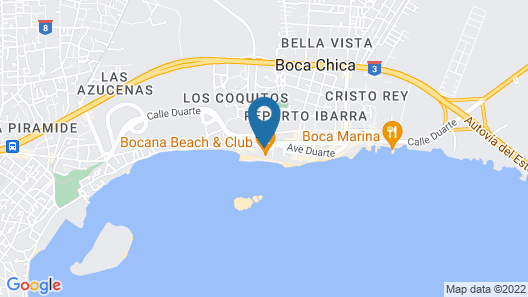 whala!boca chica - All inclusive Map