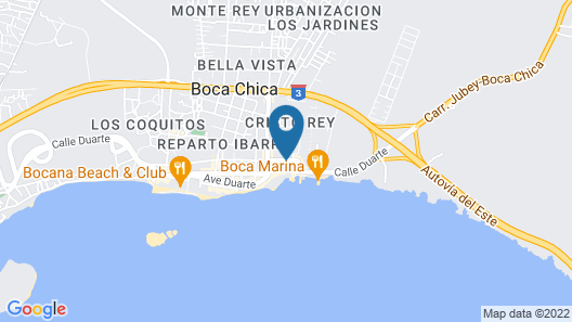 Be Live Experience Hamaca Beach - All Inclusive Map