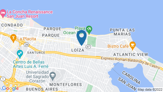 Nomada Urban Beach Hostel - Adults Only Map