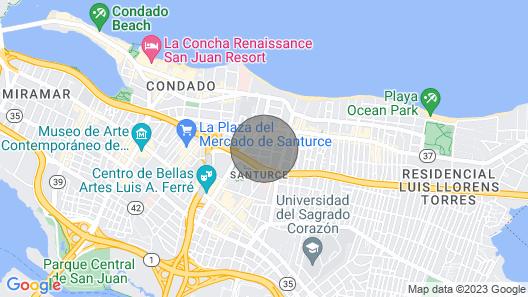 Condado Santurce Rooftop Penthouse Map