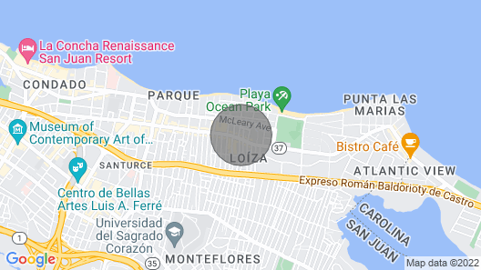 New Ocean Park Couples Retreat Steps to the Beach! Map