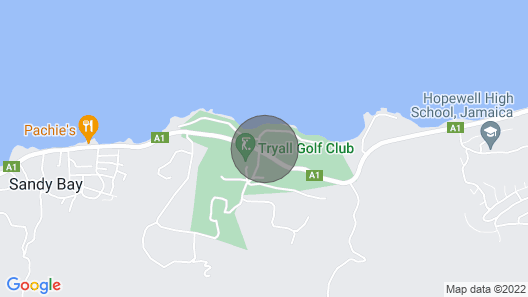 Bougainvillea at the Tryall Club at Hanover Parish Map