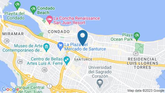 DoubleTree by Hilton San Juan Map