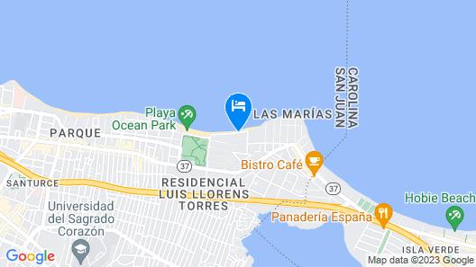 Tres Palmas Inn Map