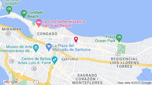 Casa Isabel Bed & Breakfast Map