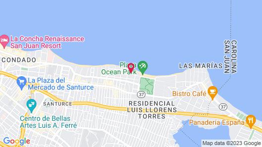 Ocean Park Studio for 4 Parking Beach Block Map