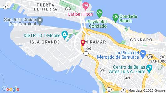 Dreams Miramar Map