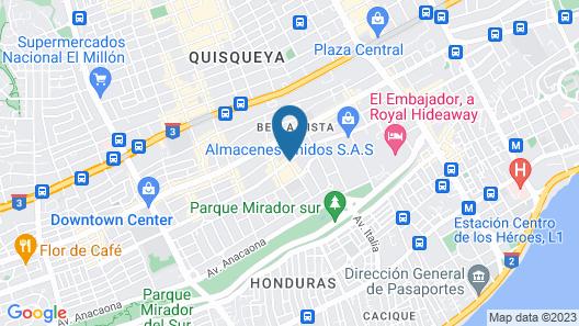 W&P Santo Domingo Map