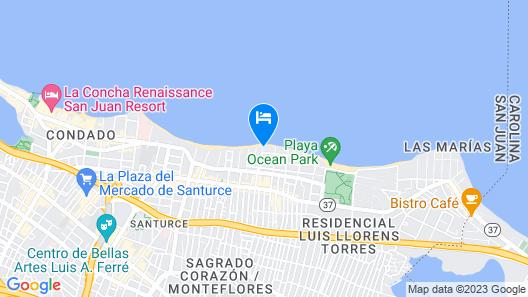 Numero Uno Beach House Map