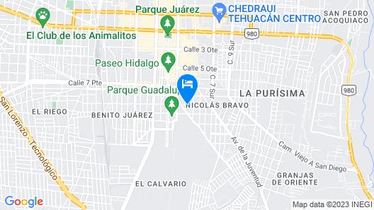 Hotel Bella Vista Tehuacan Map