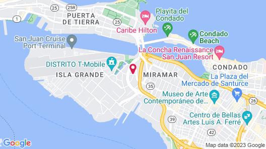 Hyatt Place San Juan/City Center Map