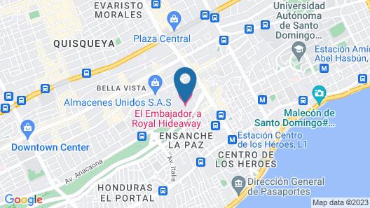 El Embajador, a Royal Hideaway Hotel Map