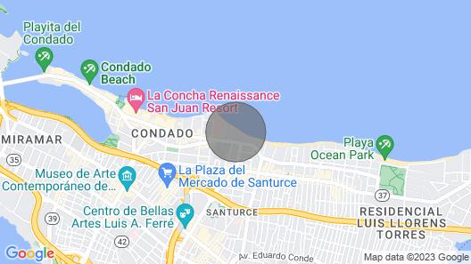 Ocean Breeze Poolside Studio Cabana Apartment Beach Access Map