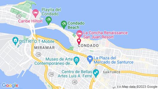 The Ivy Hotel San Juan Map