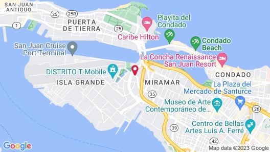 Hyatt House San Juan Map