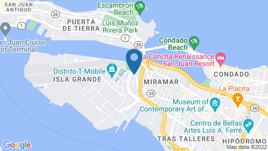Hyatt House San Juan Map