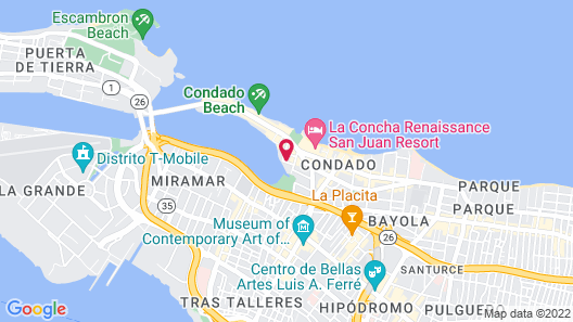Vibrant Modern Apartment in The Heart of Condado Map