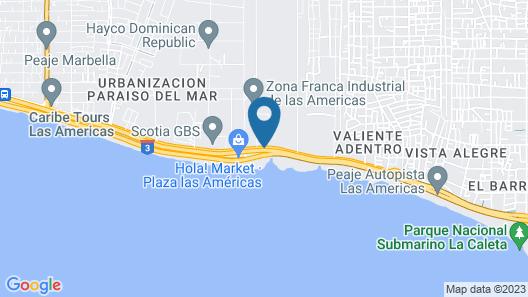 Quality Hotel Real Aeropuerto Santo Domingo Map