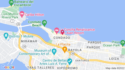 Special Rate. Can You Work From Anywhere? Do it From Here in Hipster Condado PR Map