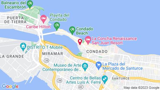 Holiday Inn Express San Juan Condado Map