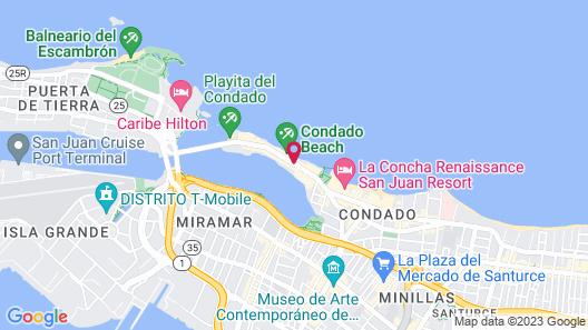 Condado Ocean Club - Adults Only Map