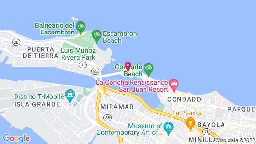 The Condado Plaza Hilton Map