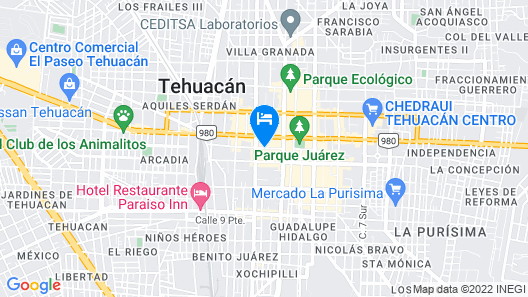 Hotel Boutique Tehuacan Map