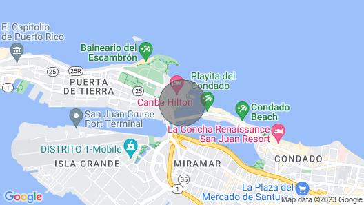 Condado Laguna Suite Waterfront 1 Bedroom in Trendy San Juan Location Map