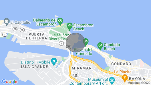 Sea Breeze Studio Urban Waterfront Caribbean Getaway Map