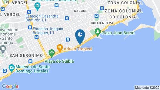Sheraton Santo Domingo Hotel Map