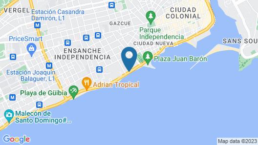 Crowne Plaza Santo Domingo Map