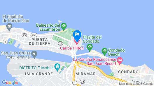 Caribe Hilton Map