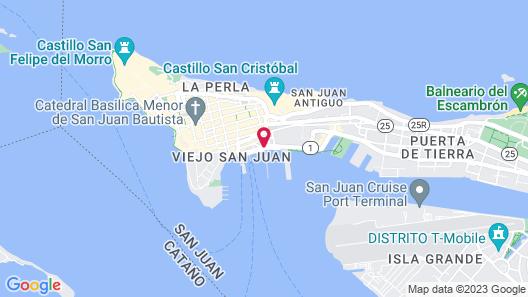 Sheraton Old San Juan Hotel Map