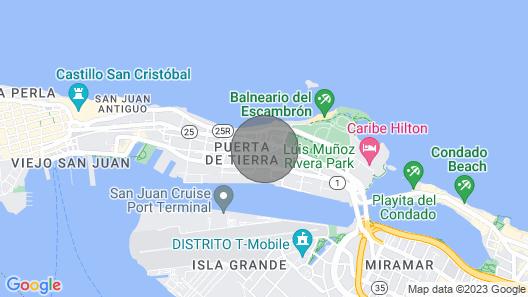 San Juan Modloft: 2 BR, 2 BA Condominium in San Juan, Sleeps 6 Map