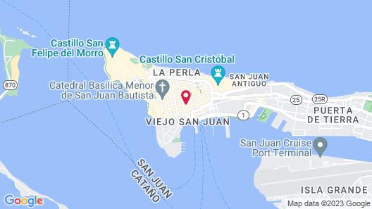 Old San Juan Rentals Map
