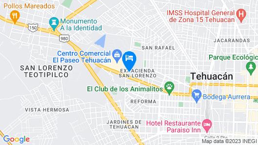 City Express Tehuacán Map