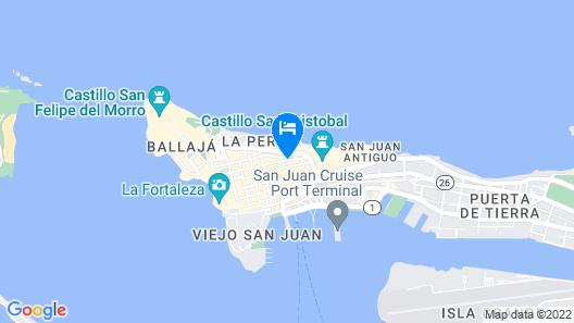 Casa Sol Bed and Breakfast Map