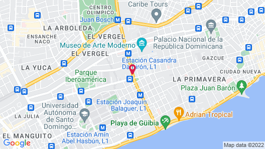 Courtyard by Marriott Santo Domingo Map