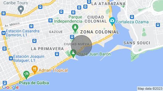Studio apartment for rent in Zona Colonial RIG Puerto Malecon (junior suite] Map