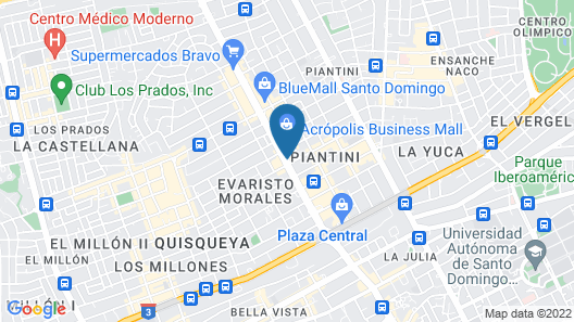 Intercontinental Real Santo Domingo Map