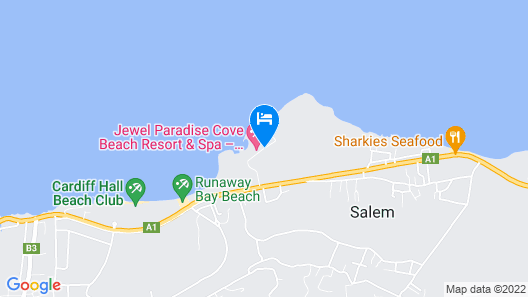 Jewel Paradise Cove Adult Beach Resort & Spa – All Inclusive Map