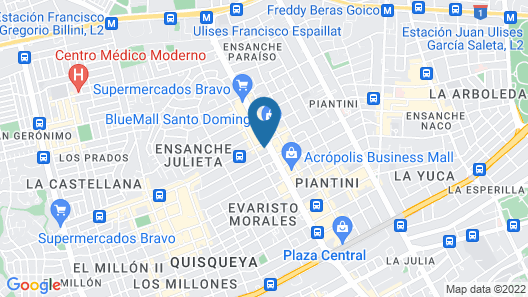 Homewood Suites by Hilton Santo Domingo, Dominican Republic Map