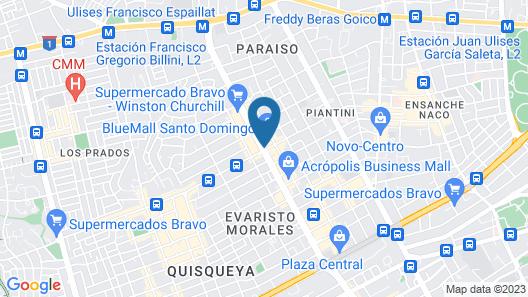 JW Marriott Hotel Santo Domingo Map