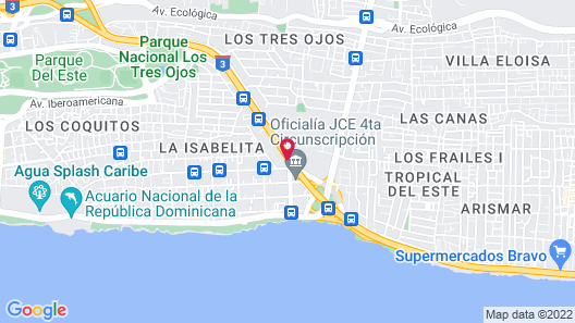 Hotel Tropicana Map