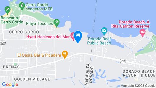 Hyatt Residence Club Dorado, Hacienda Del Mar Map