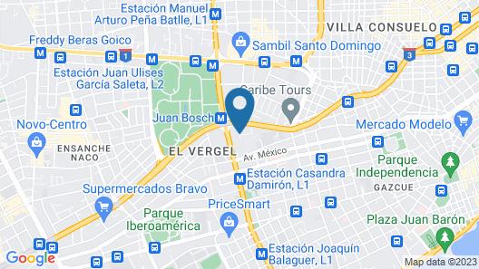 Barceló Santo Domingo Map