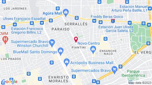 Holiday Inn Santo Domingo Map