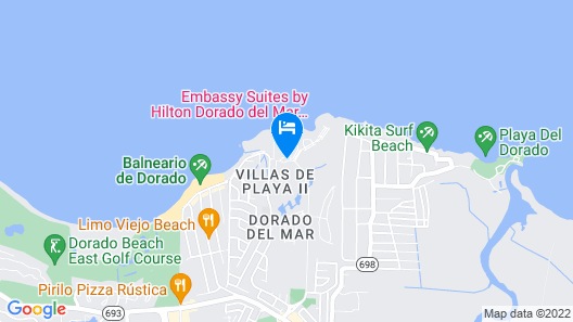Embassy Suites by Hilton Dorado del Mar Beach Resort Map