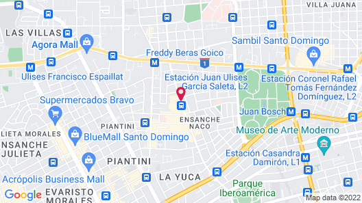 Radisson Hotel Santo Domingo Map