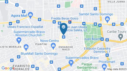 Radisson Hotel Santo Domingo Map